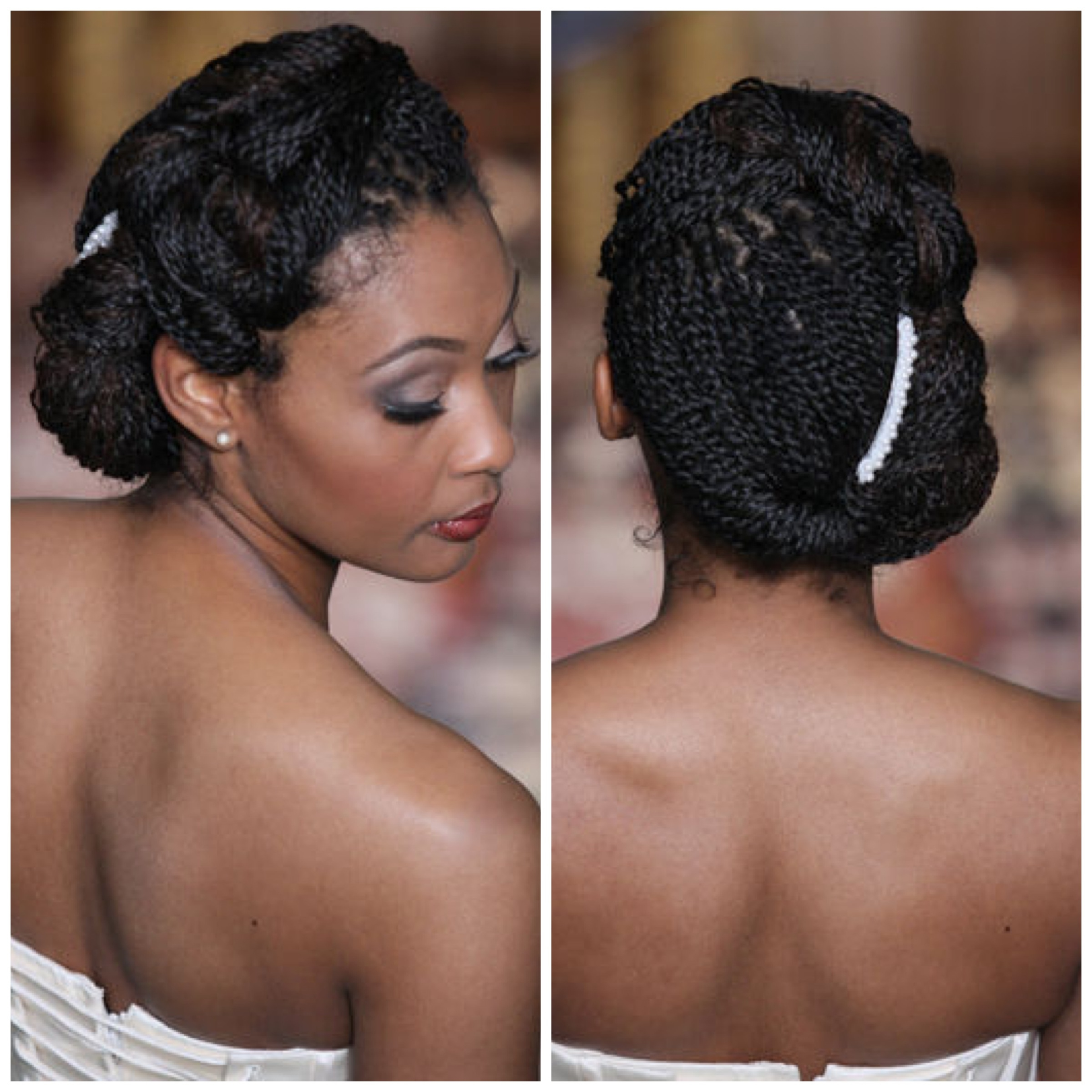 Natural hairstyles for medium length hair for black women - 14braided Bridal Style