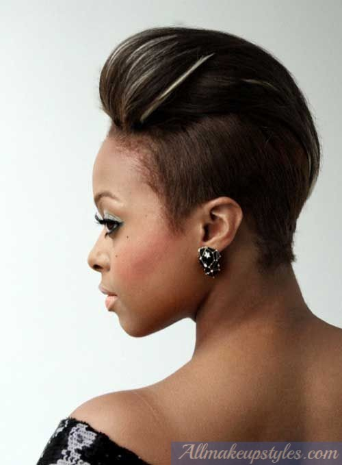 25 updo hairstyles for black women 23shaved pompadour black updo urmus Choice Image