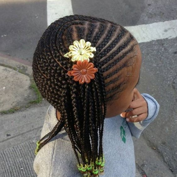 Little black girl hairstyles 30 stunning kids hairstyles how cute is this side braided hairstyle this braided hairstyle keeps hair in place all over and the colorful beads are the perfect way to involve her own urmus Images
