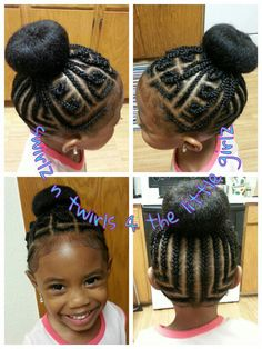 Hairstyles For Black Little Girls 31crossed ponytail style with a twist 1braided Ballerina Bun