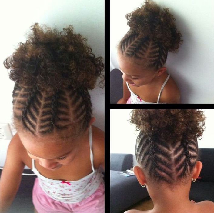 Little black girl hairstyles 30 stunning kids hairstyles 2fishbone cornrows urmus Image collections