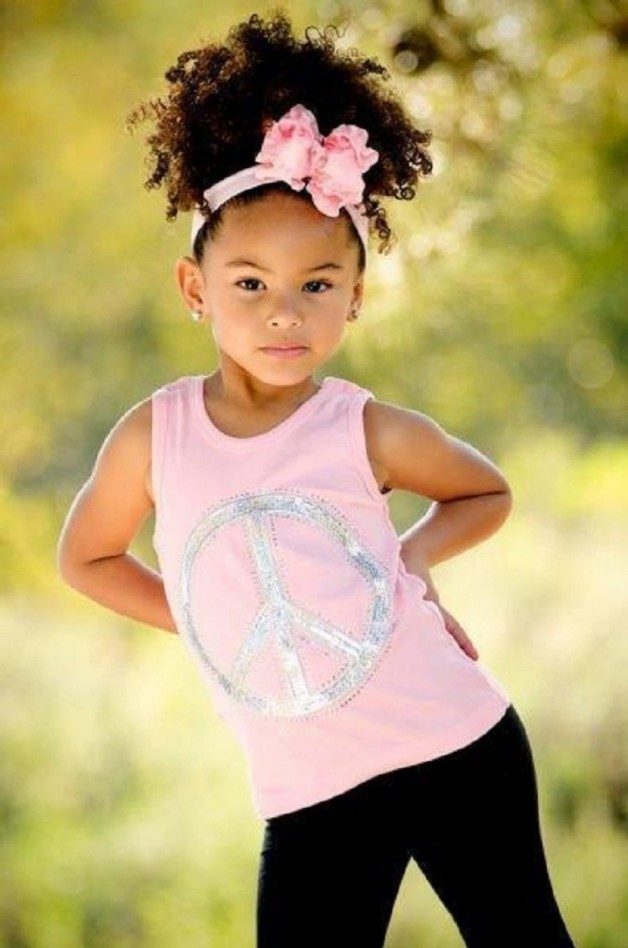 Pleasant Little Black Girl Hairstyles 30 Stunning Kids Hairstyles Hairstyles For Men Maxibearus