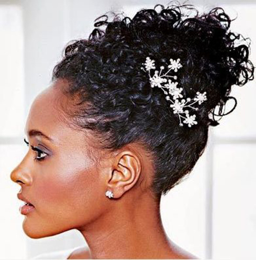 Curly Updo Hairstyles For Weddings: Wedding Hairstyles For Black Women That Will Turn Heads