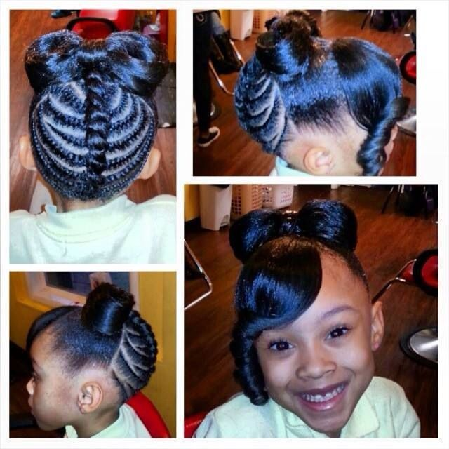 Hairstyles For Black Little Girls try this hair puff balls hairstyle on your little girl 3minnie Mouse Hair Kids Braid Styles