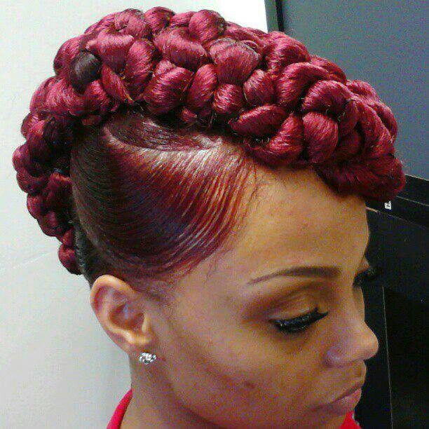 This Cherry Cola Color Is A Standout All On Its Own And Adds Extra Flair To Mohawk Style Hair