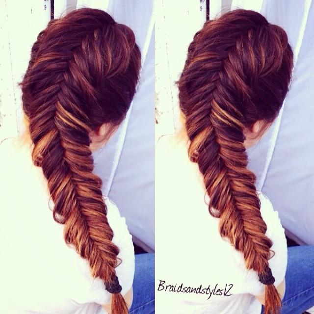 Top 21 fishtail braid hairstyles you 39 ll love for Fish tail hair