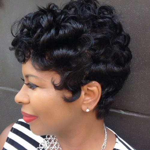 Miraculous Short Curly Hair Finger Waves Short Hair Fashions Short Hairstyles For Black Women Fulllsitofus
