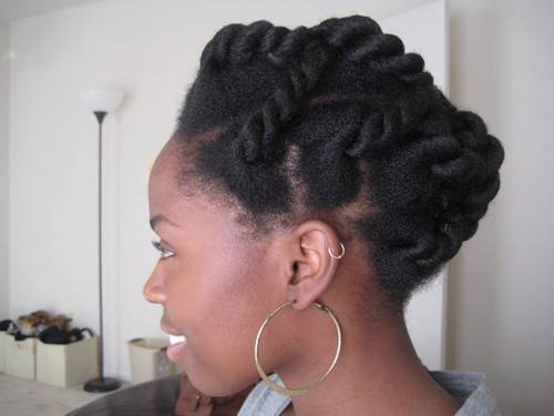 Protective Hairstyles For Natural Hair natural hair protective styling halo tutorial youtube 1pinned Chunky Twist
