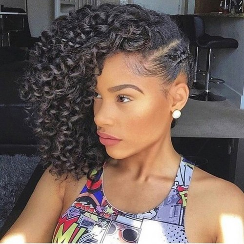Crochet Hairstyles Updo : Crochet Braids Updo Hairstyles also Crochet With Marley Hair Updo ...