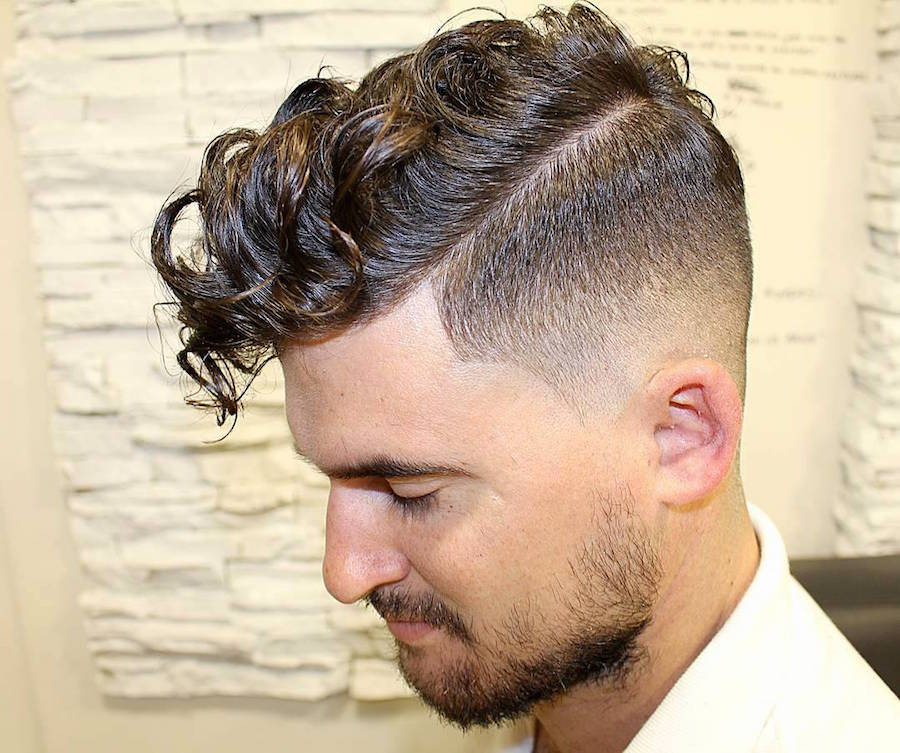 25 hottest hair styles for men curled comb over fade