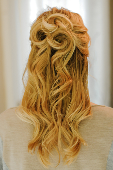 Half Up Down Prom Hairstyle