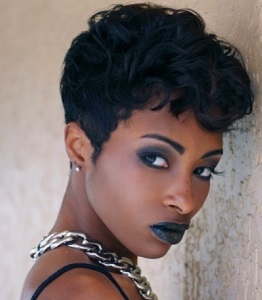 27Curly Pixie Short Black Hairstyles