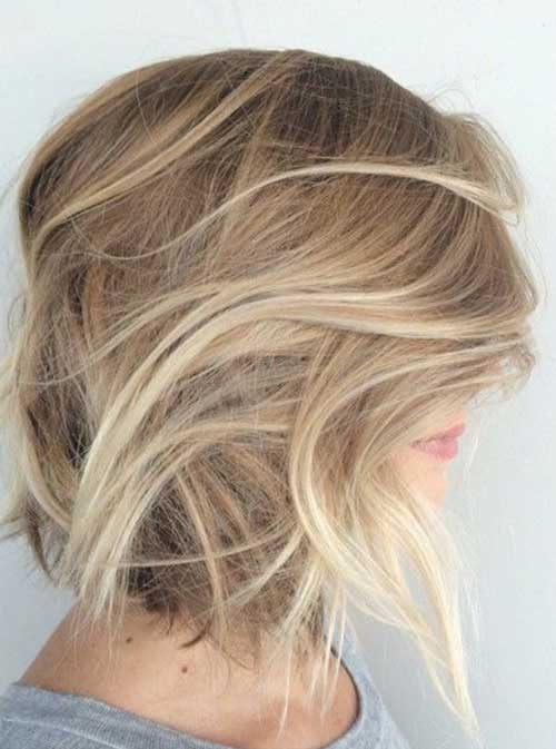 Blonde Balayage Short Ombre Hair