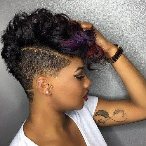 Short Hairstyles For African American Women extra short hairstyle for black women 15curly Mohawk Pixie