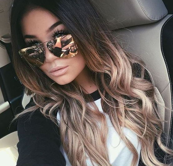 45 sunny and sophisticated brown with blonde highlight looks go bold with your blonde highlights by treating your dark brunette roots to a champagne blonde ombre style this is a good option for ladies who have tried pmusecretfo Gallery
