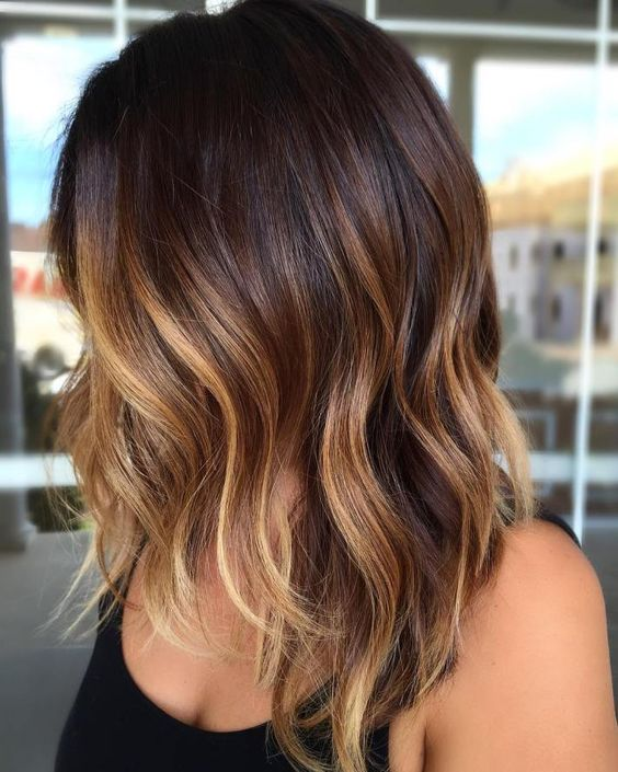 45 sunny and sophisticated brown with blonde highlight looks 4warm contrasting blonde on brown pmusecretfo Choice Image