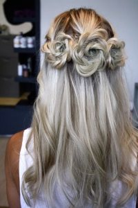 Homecoming Hairstyles homecoming hairstyles from pinterest wear these to the big dance stylecaster If Youre Looking For Hairstyles For Long Hair For Homecoming Then Try This Romantic Rosette Hair Band Section The Top Layers Of Your Hair Into Three