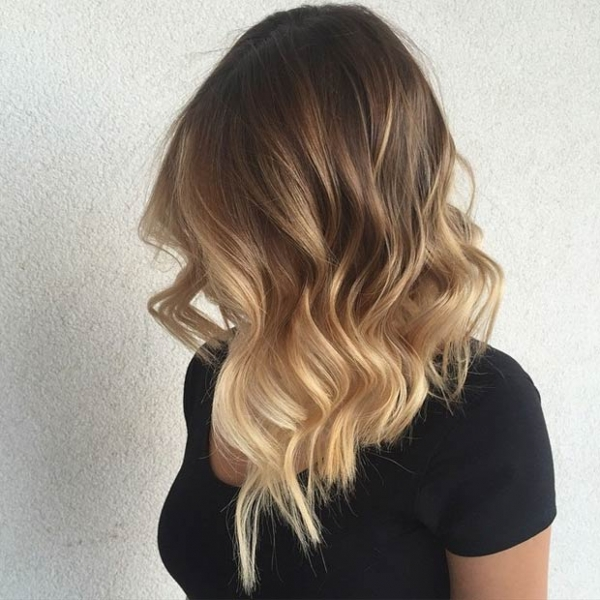 The Hottest Trend In Hair Color For Women Who Dont Want To Go Grey Or Lavender Is Sweeping Painted On Look Of Balayage Mid Length