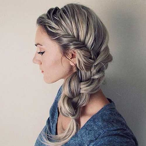 Stunning braided hairstyles for long hair part 8 one of the messier versions of a long braid this style is practical for girls with bangs that arent behaving themselves or anyone in an in between phase urmus Gallery