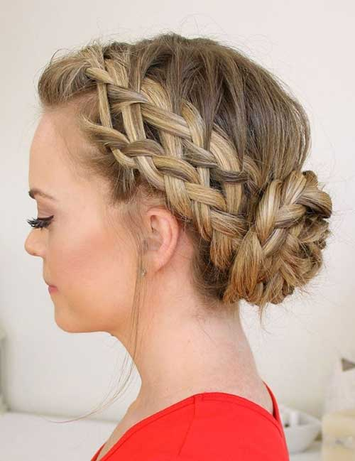 Stunning braided hairstyles for long hair this demure updo features next level braiding technique perfect for a fancy outing the longer your hair is the more impressive this braided bun will look pmusecretfo Choice Image