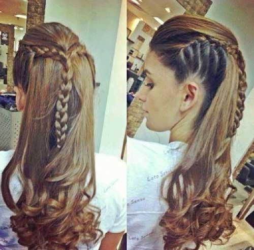 Stunning braided hairstyles for long hair part 8 this is the perfect hybrid style for long haired girls who want the whimsy of a braid and the freedom of loose flowing ends this also works well as a next urmus Gallery