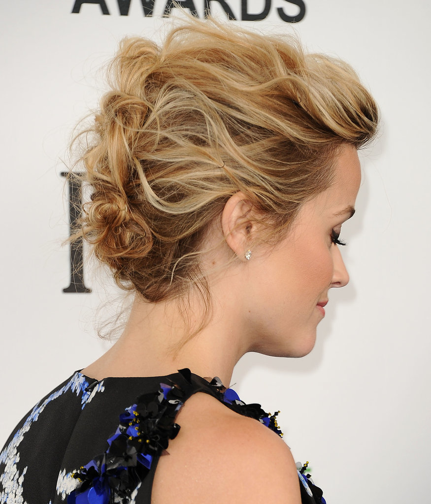 22 gorgeous mother of the bride hairstyles 1messy pinned updo pmusecretfo Choice Image
