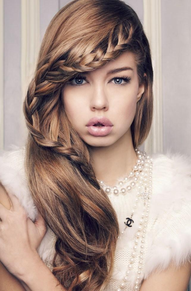 Wedding Hairstyles With Braids And Bangs : Stunning braided hairstyles for long hair part 8