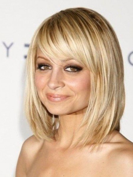 Excellent  Layered Bob Hairstyles With Blunt Bangs  Judy Greer HaircutsGetty