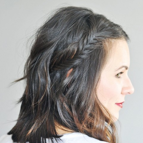 how to make a fishtail braid from the top
