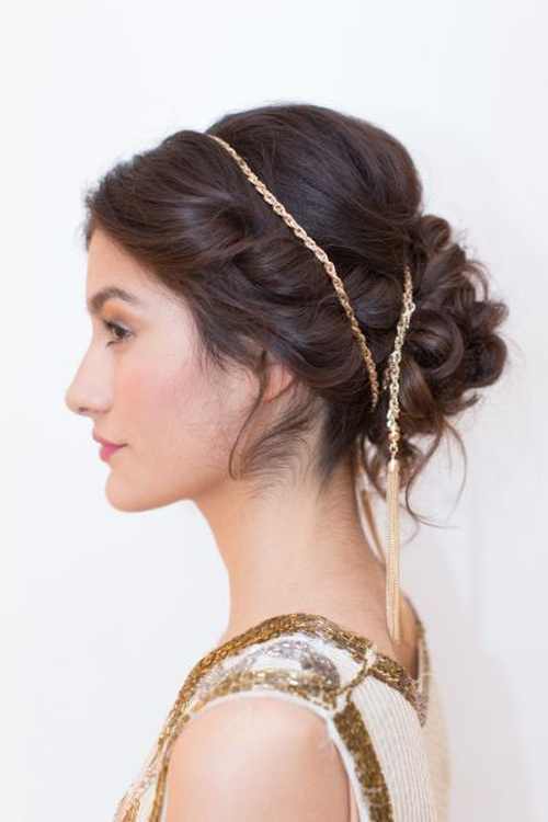 35 easy updos youll love to try easy updo ideas part 25 27messy and easy updo with chain pmusecretfo Image collections