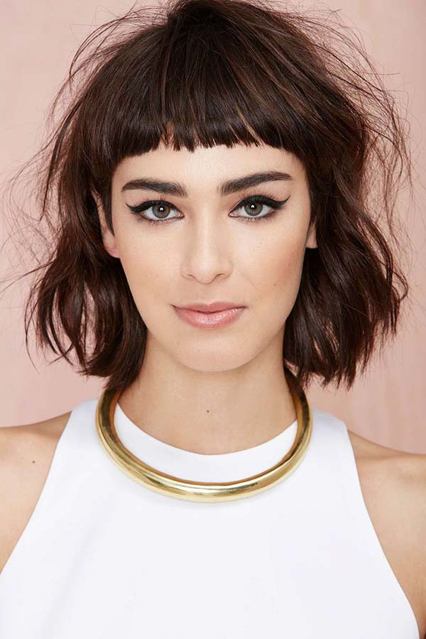 30 bangs hairstyles for short hair - Peinados con flequillos ...