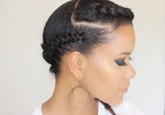 Braided Updo Styles For Natural Hair: Stunning Goddess Braids Styles