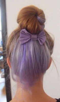 30 lavender hair and purple hair styles for a bright bit of lavender that will remain mostly hidden when hair is down try this sneaky lavender color purple highlights on the lowest section of pmusecretfo Choice Image