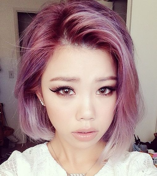 Asian Hairstyles asian short haircut for young girl Inspired By The Bold Hair Colors Of K Pop Stars This Pink Color Is Multi Tonal And Full Of Dimension Getting To This Color From Naturally Dark Asian Hair