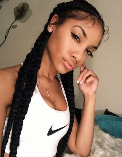 friends hairstyles : 12 Quadruple Braids With Baby Hair