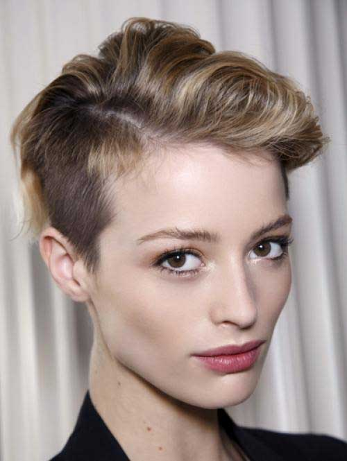 Gorgeous Short Haircuts For Round Faces - Edgy hairstyle for round face