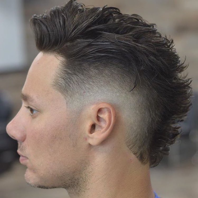 Pleasing Top 30 Mohawk Fade Hairstyles For Men Hairstyles For Men Maxibearus