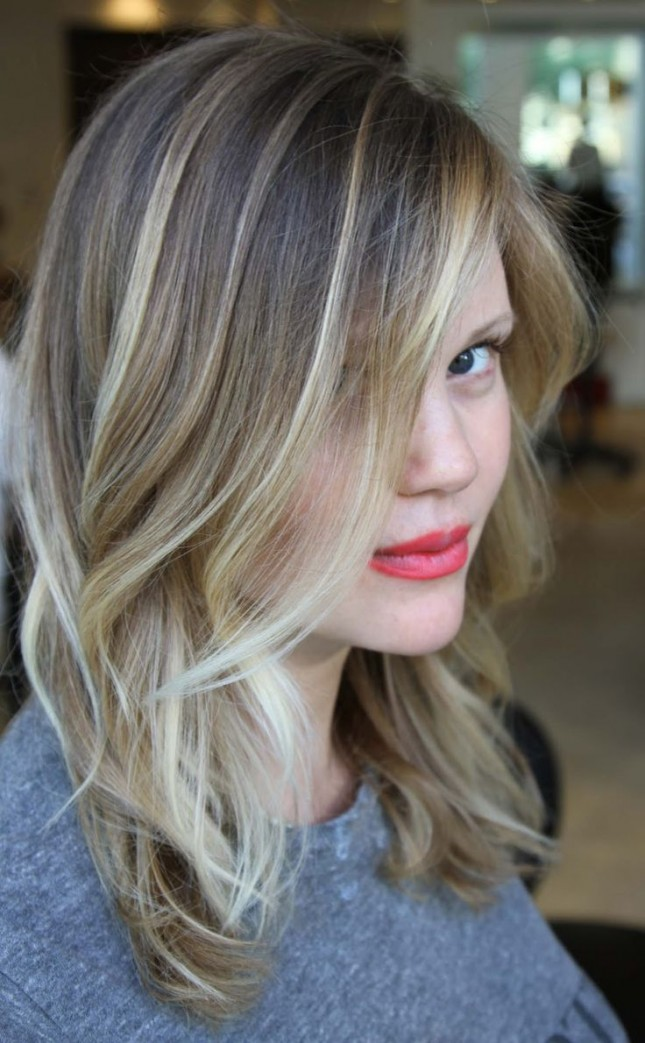 30 fabulous haircuts for thin hair this style is cut with face framing layers and finished off with balayage highlighting the end result is thin hair that falls beyond the shoulders pmusecretfo Choice Image