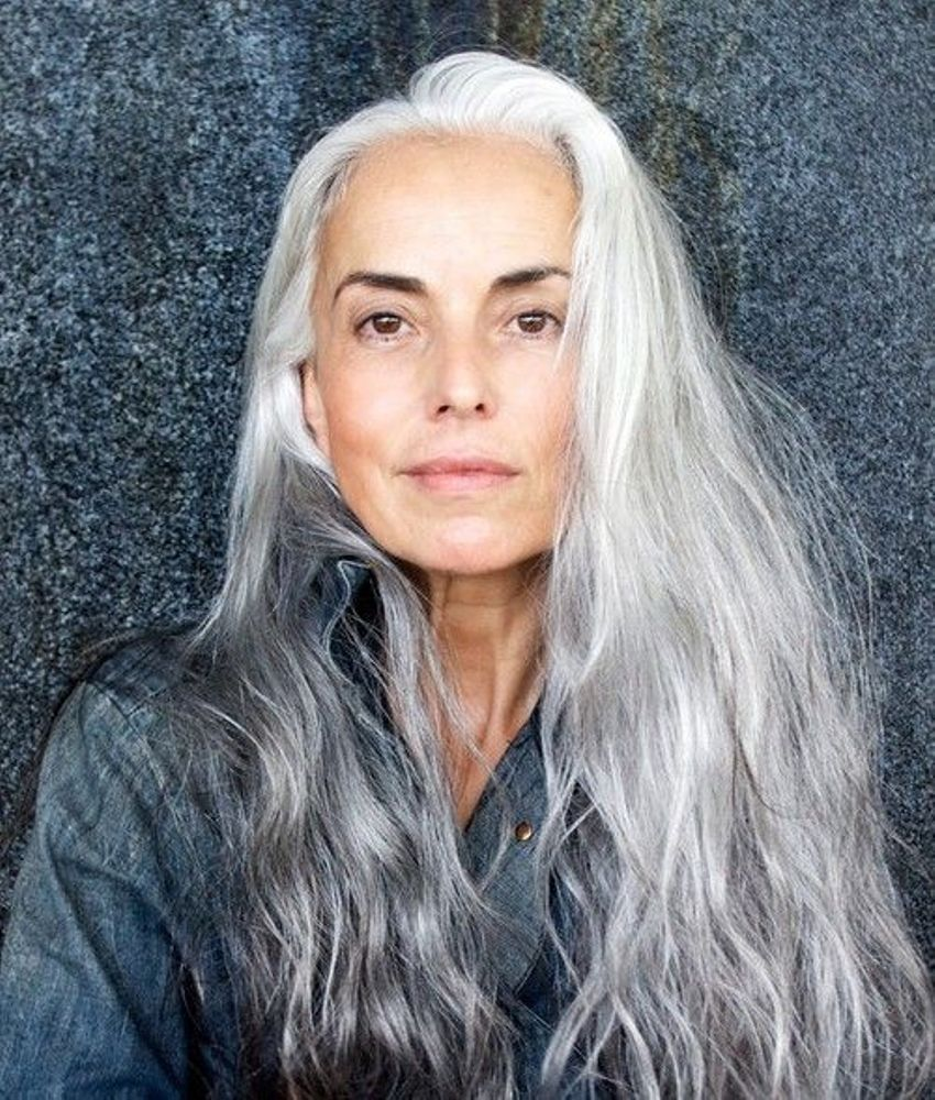 30 stylish gray hair styles for short and long hair 4ultra long gray hair styles urmus Choice Image