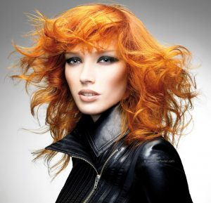 Many copper shades feature some element of blonde highlight or tone ...