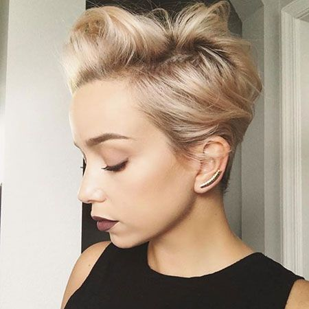 Want Your Fine Hair To Look Edgy But Sophisticated This Swept Back Pixie Perfectly Marries The Two Giving You A Gravity Defying That Can Be Tough