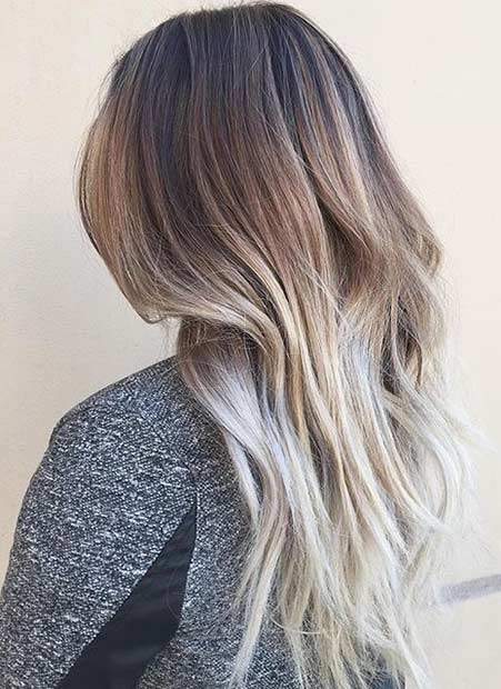 More subtle than most ombre styles, these balayage highlights over