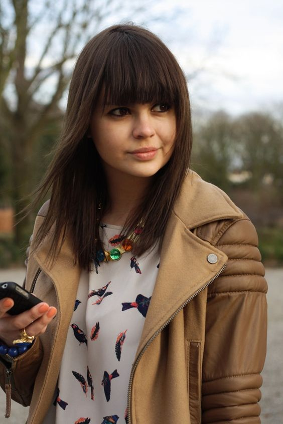 30 Super Chic Medium Hairstyles With Bangs Part 13