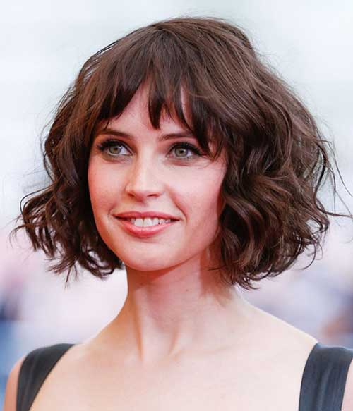 Quirky Hairstyles For Medium Length Hair : Chic and beautiful curly bob hairstyles we adore