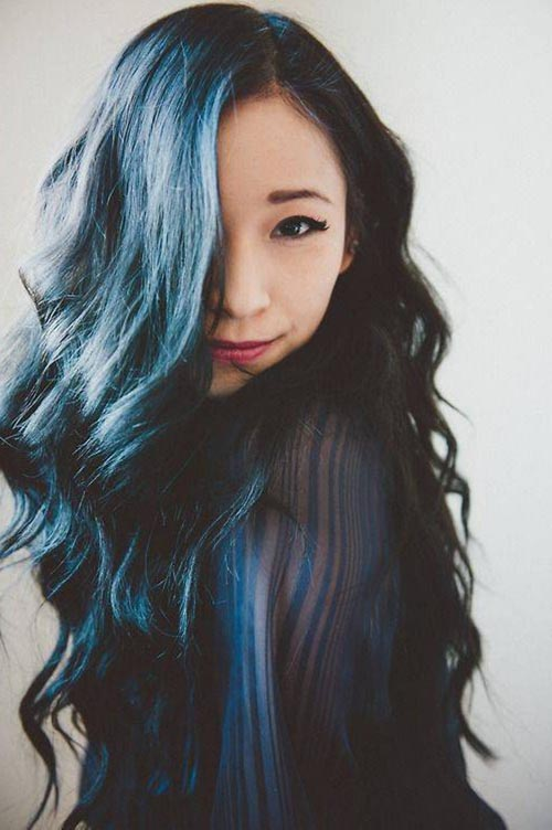 Blue black hair tips and styles dark blue hair dye styles want to wear blue black hair without feeling like a cartoon character with a subtle blue shine the color of deep tropical waters this simple blue black pmusecretfo Choice Image