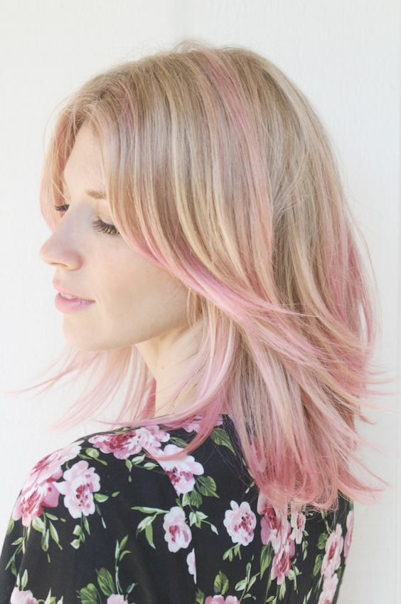 30 pink hairstyles ideas for this season 3dirty blonde with a touch of pink pmusecretfo Choice Image