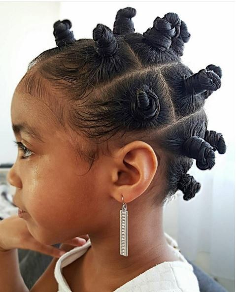 30 cute and easy little girl hairstyles ideas for your girl part 6 a protective style for little girls with natural curls this fun trendy style keeps hair up and out of the way urmus Images