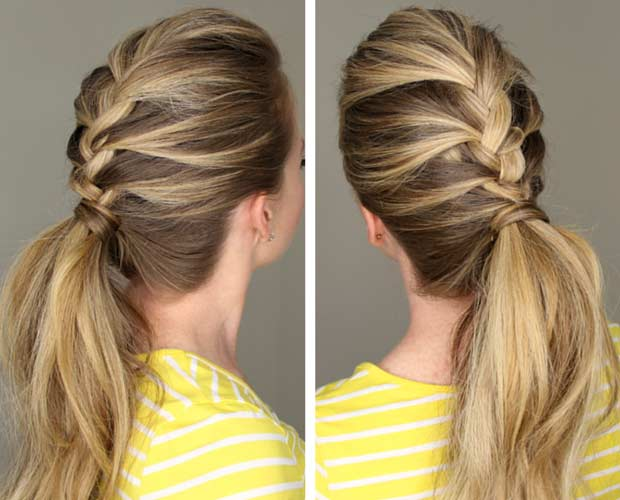 how to start a french braid