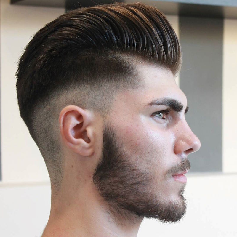 30 perfect pompadour haircuts for men part 2 14pompadour with low skin fade urmus Image collections