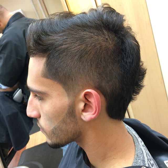 Fabulous Taper Fade Faux Hawk Haircut For Men Taper Get Free Printable Hairstyle Inspiration Daily Dogsangcom